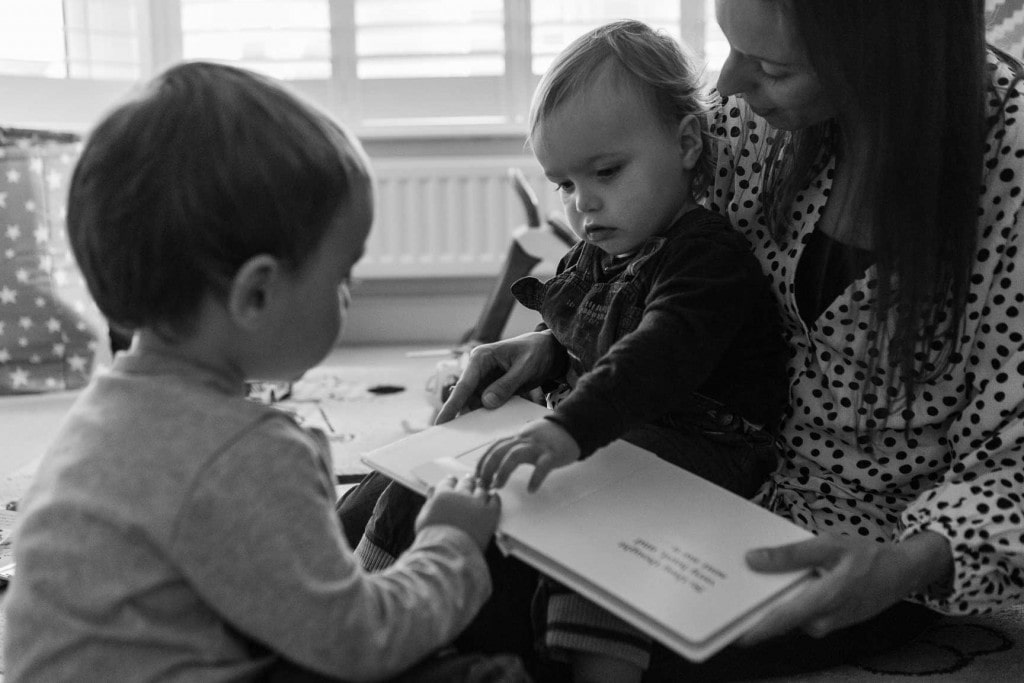 Reading stories with Mummy